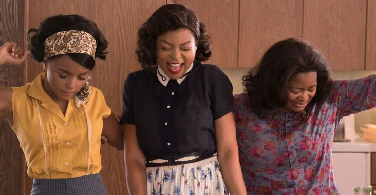 Taraji P. Henson, Janelle Monae, and Octavia Spencer in Hidden Figures