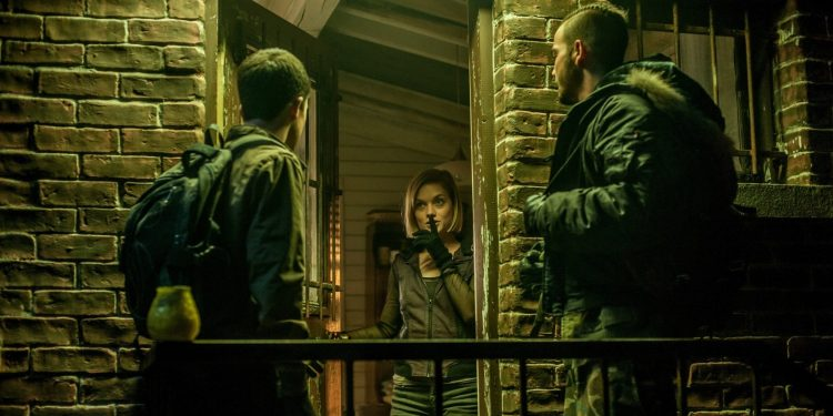 Jane Levy, Dylan Minnette, and Dan Zovatto in Don't Breathe