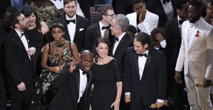 Barry Jenkins accepts Best Picture for Moonlight