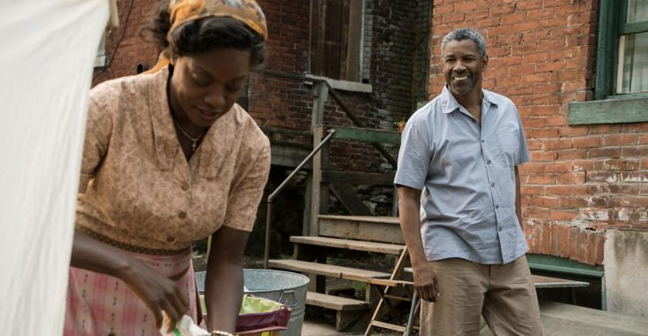 Viola Davis and Denzel Washington in Fences