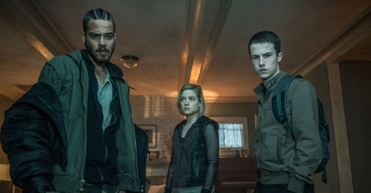 Jane Levy, Dylan Minnette, and Daniel Zovatto in Don't Breathe