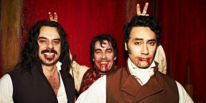 Jermaine Clement, Rhys Darby, and Taika Waititi in What We Do In the Shadows