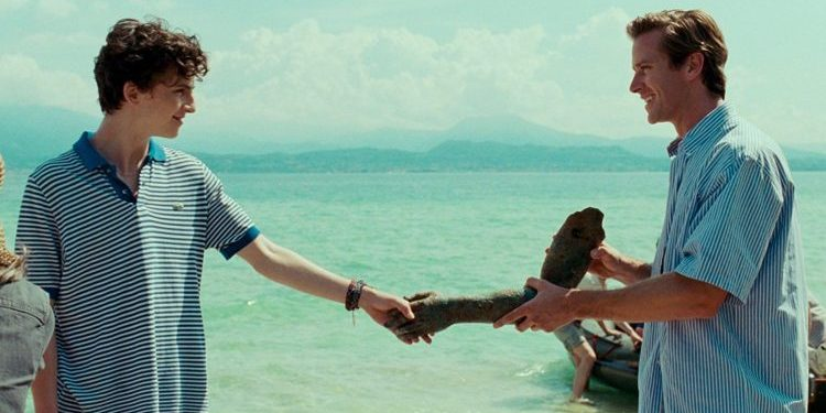 Timothee Chalamet and Armie Hammer in Call Me By Your Name